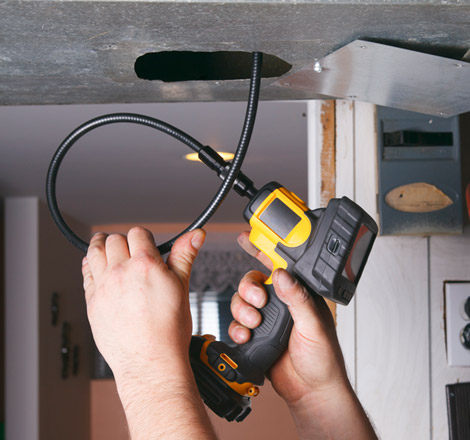 Using a Camera to Inspect an Air Duct