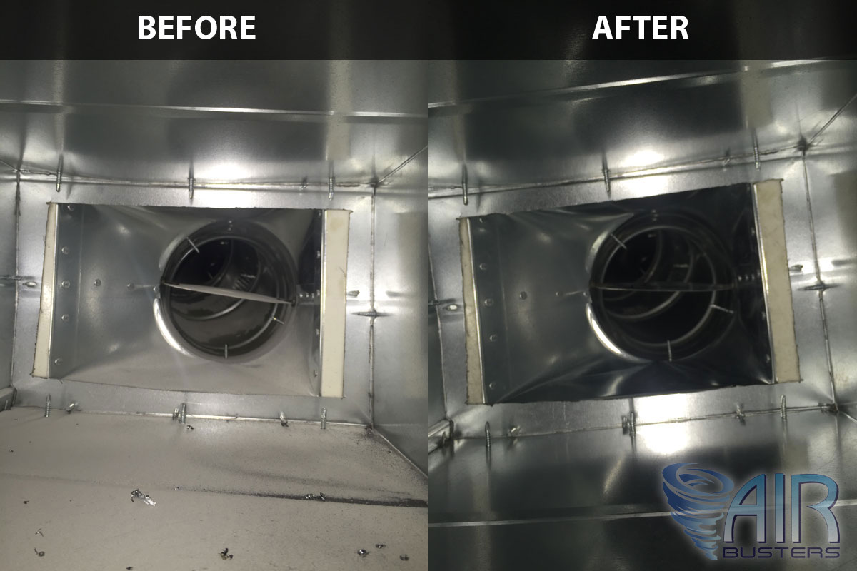 Duct Cleaning Before & After Picture